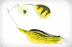 Pike Spinnerbait-Double Colorado 28g