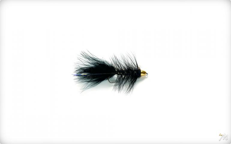 Tungsten Bullet Black Woolly Bugger