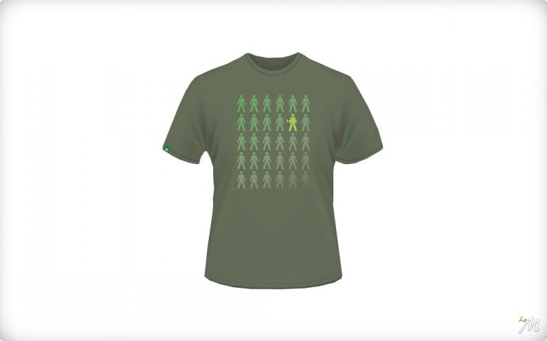 T-Shirt Stand Out from the Crowd Verde