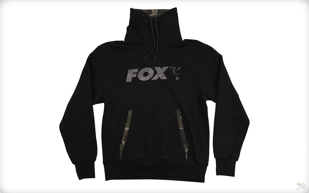 FOX FELPA BLACK CAMO PRINT HIGH NECK FELPA CON COLLO ALTO PESCA CARPFISHING