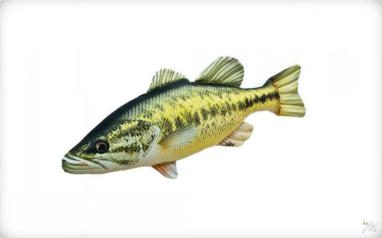 Cuscino Black Bass 67cm