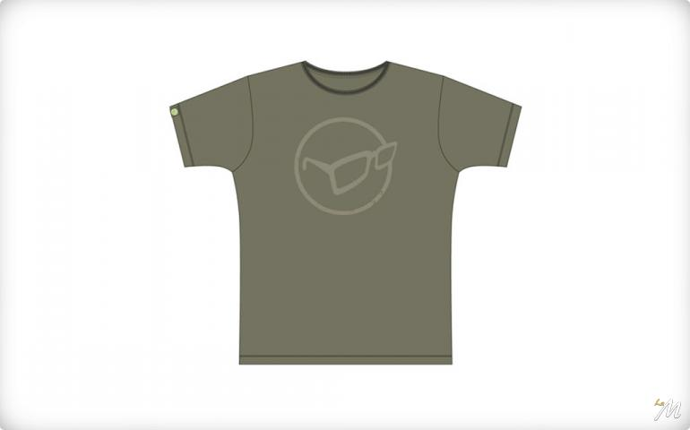 T-shirt Distressed Logo Verde