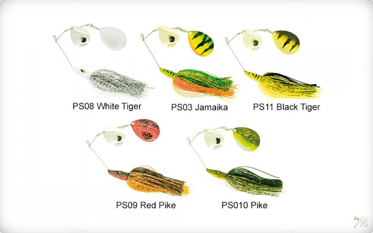 Pike Spinnerbait-Double Colorado 42g