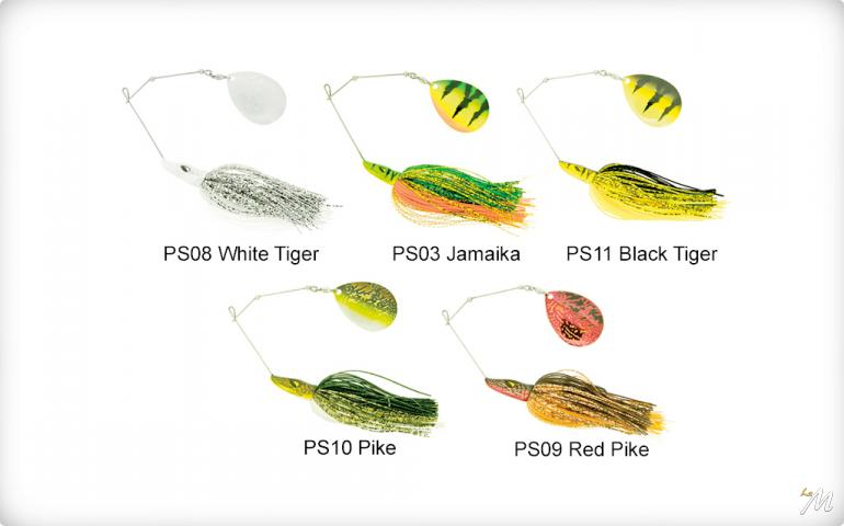 Pike Spinnerbait-Single Colorado 42g
