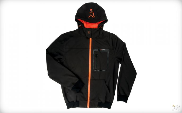 SoftShell Con Cappuccio Black/Orange