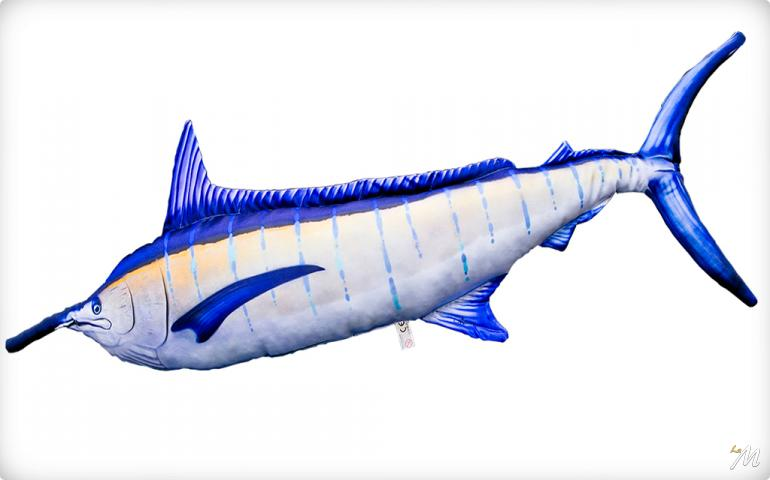 Cuscino Blue Marlin 118cm